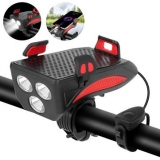 XANES® 4-in-1 400LM Bike Light + USB Horn Lamp + Phone Hold + Power Bank 3 Modes LED Headlight 5 Modes Horn Waterproof Cycling Bicycle