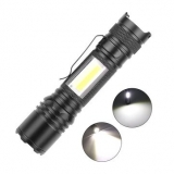 XMUND XD-FL22 XHP50 1200LM LED COB Zoomable Flashlight USB Rechargeable